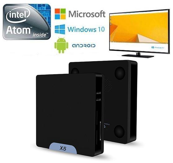 Intel X5 四核 Z8350 Win10/安卓5.1 2GB/32GB 雙系統迷你電腦