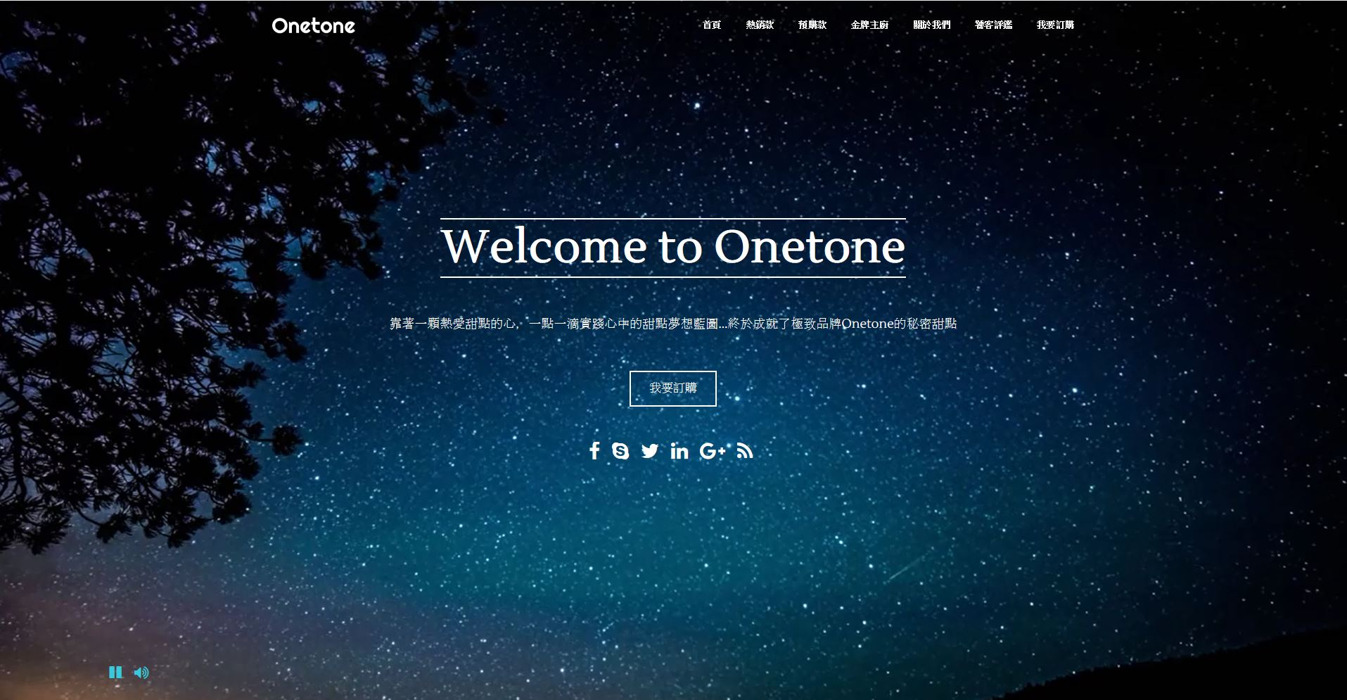 一頁式網站範例